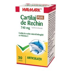 Cartilaj de Rechin Plus 740 mg cu Vitamina C, 30 capsule, Walmark