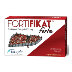 FortiFikat FORTE , Fosfolipide esentiale 825mg, 30capsule, Terapia