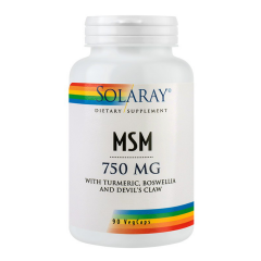MSM 750mg, 90 capsule vegetale, Secom
