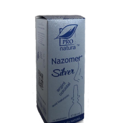 Nazomer Silver Spray Nazal  cu argint coloidal si acid hialuronic, 30 ml