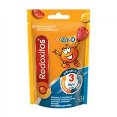 Redoxitos Triple Action Vitamina C, D si Zinc, 25 jeleuri, Bayer