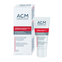 Sebionex TRIO cremă calmantă anti imperfecțiuni, 40ml, ACM