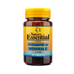 Vitamine Si Minerale Cu Fier , 60 tablete, Nature Essential